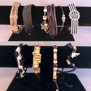 9 Women's Boho Rugged Hippie Bracelets Sheng Tong